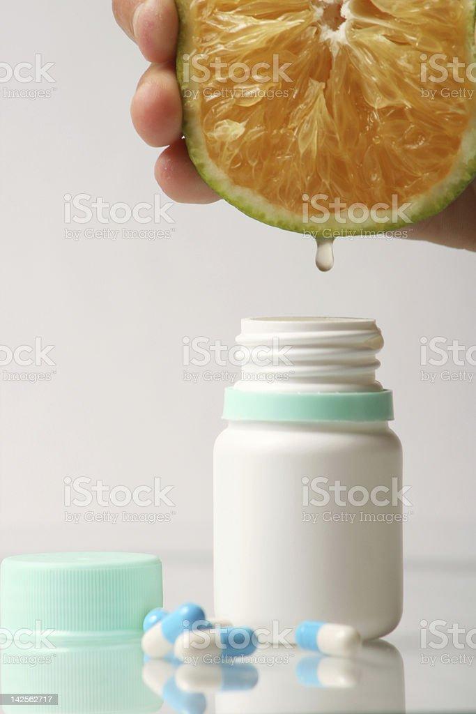 orange vitamin C royalty-free stock photo