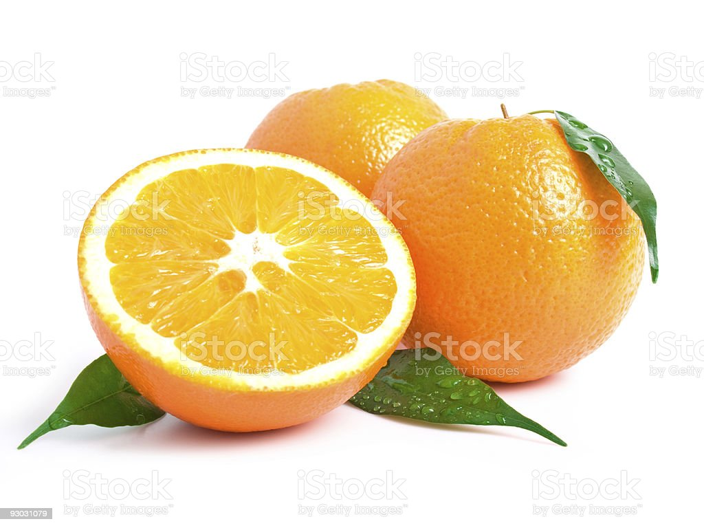 orange w clipping path stock photo