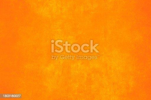 Orange wall grunge background