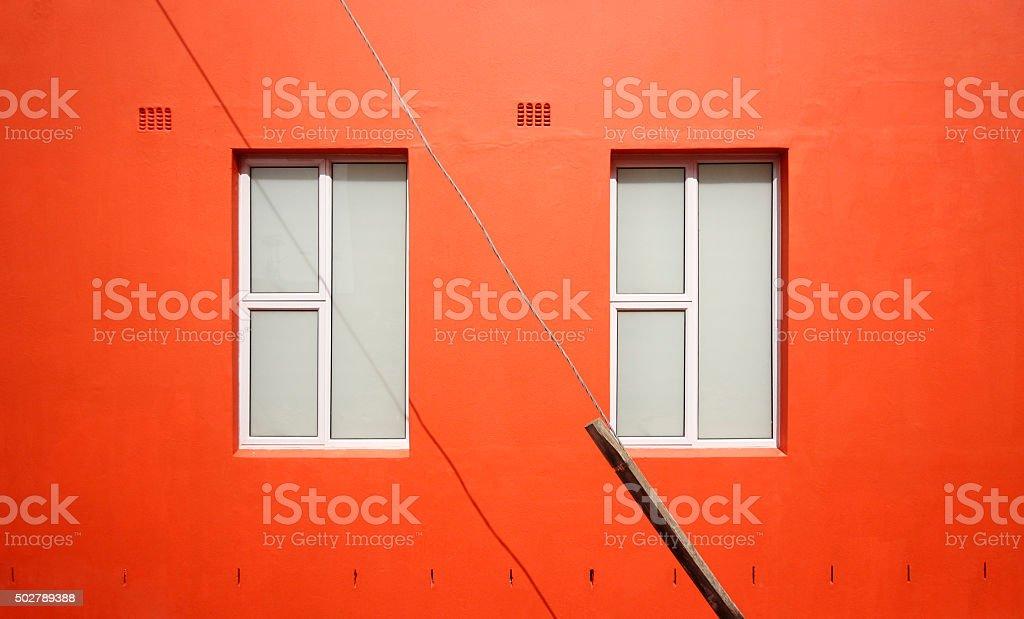 Orange wall stock photo