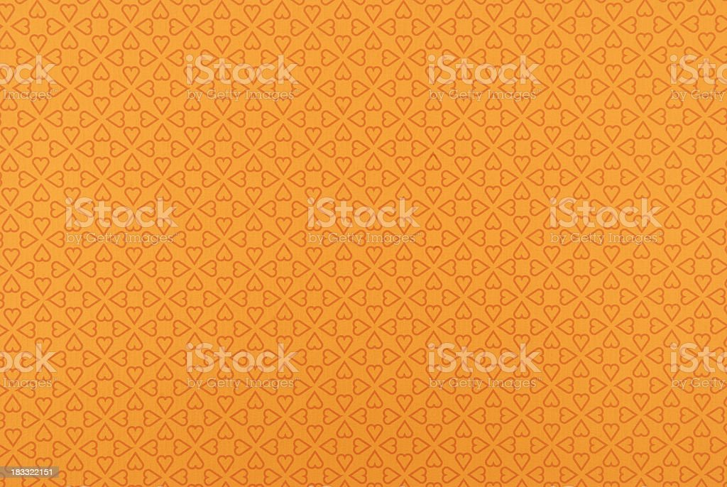 Orange wallpaper with heart shapes royalty-free stock photo