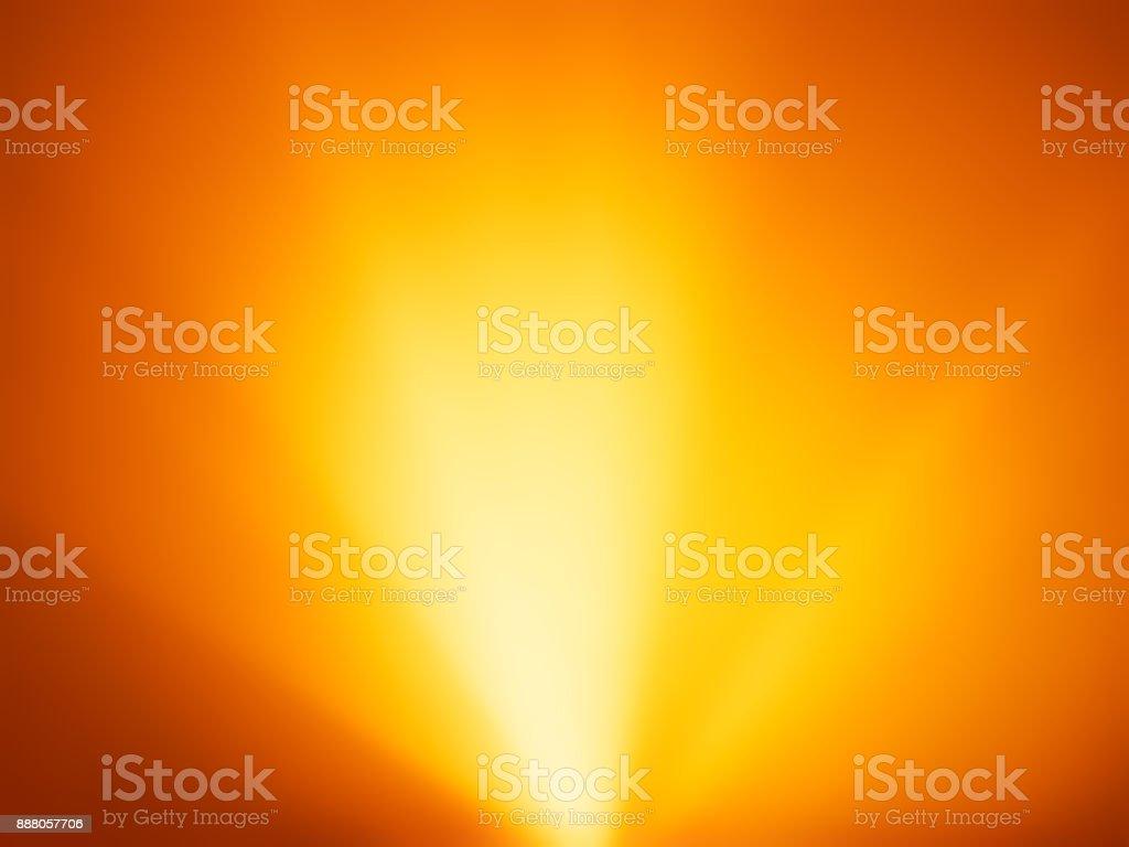 Orange warm light rays from bottom background stock photo