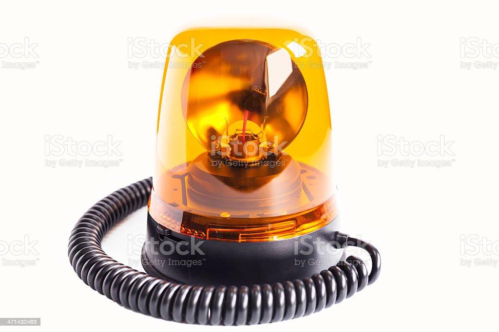 Orange Warning Beacon stock photo