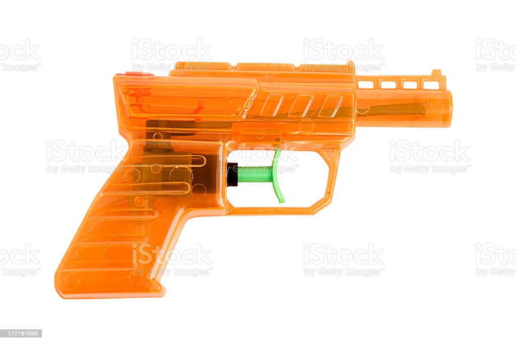 Orange Water Gun 3 stock photo