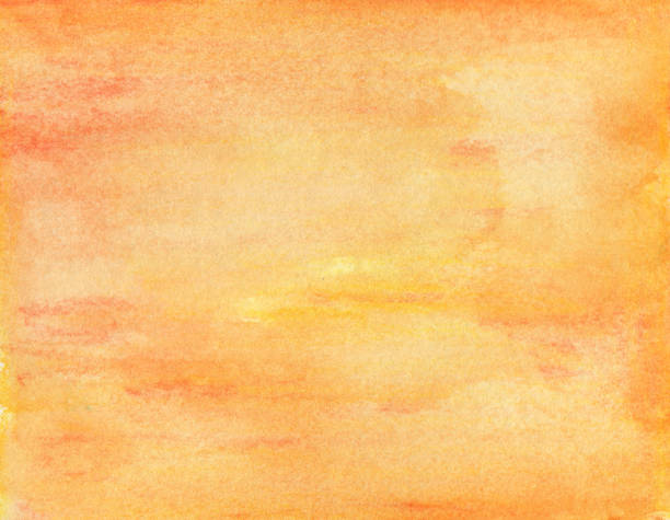 Orange watercolor background - abstract texture Orange watercolor background - abstract texture fall background stock pictures, royalty-free photos & images
