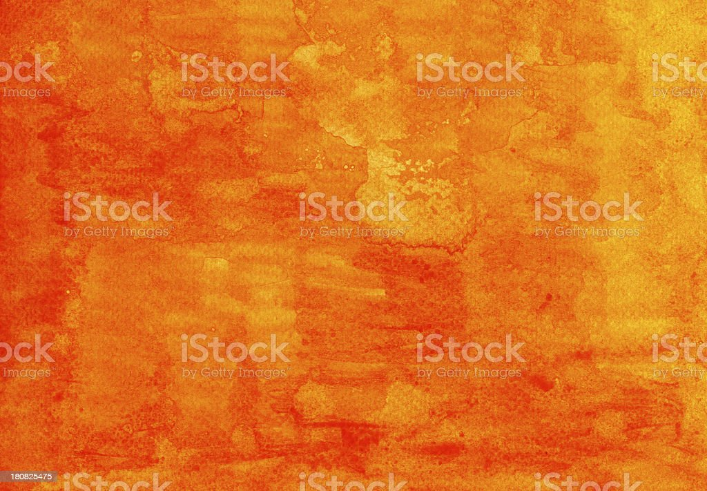 Orange Watercolor Background royalty-free stock photo