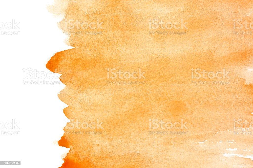 Orange watercolor background stock photo