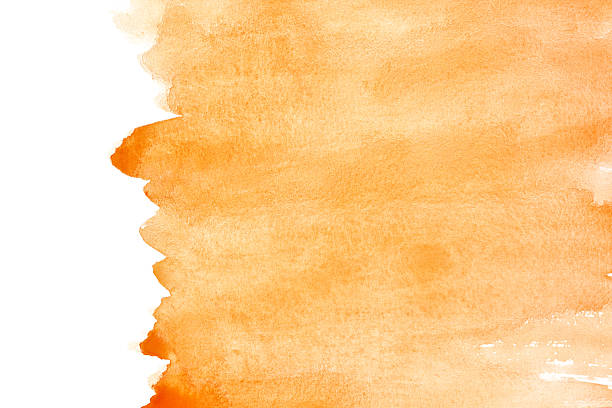Orange watercolor background stock photo