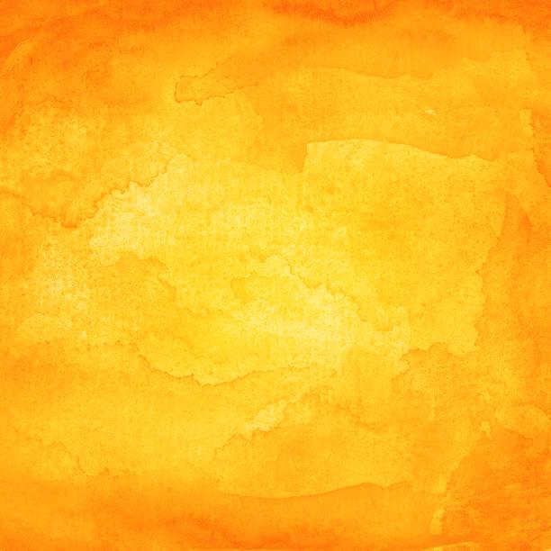 Orange Aquarell Hintergrund mit Textur, Farbe und Papier – Foto