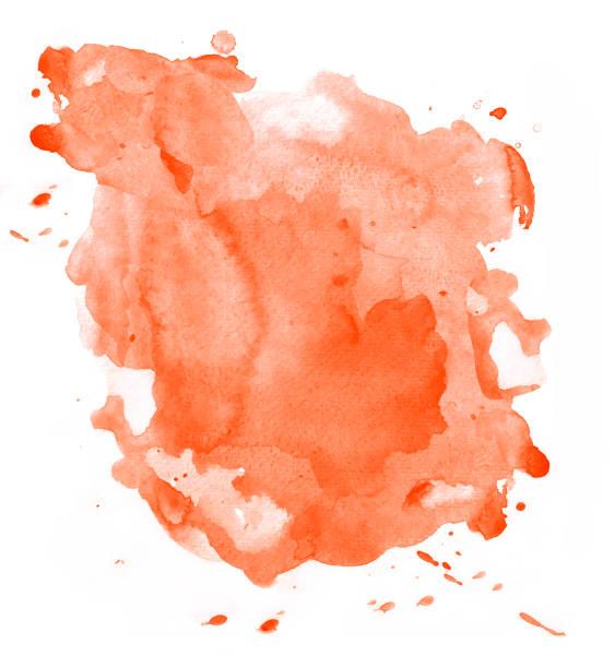 Orangefarbener Aquarellfleck – Foto