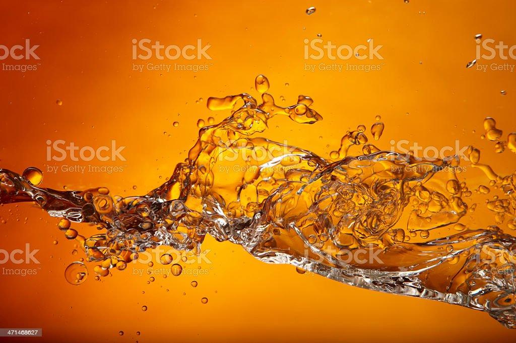 Orange wave royalty-free stock photo