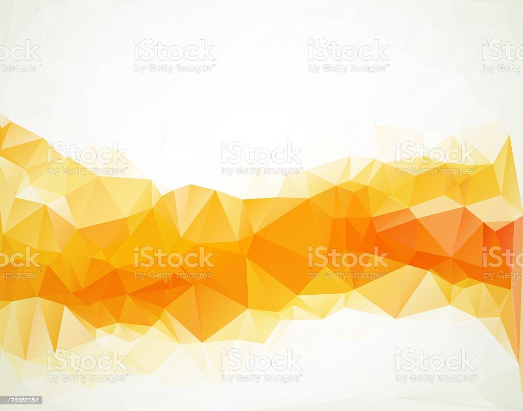 Orange White  Polygonal Mosaic Background,  Creative  Business Design Templates stock photo