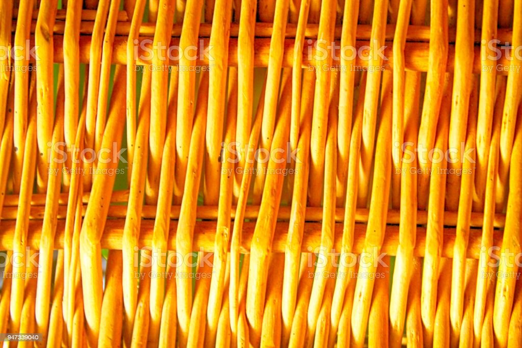 Orange Wicker Bamboo Rattan Fence Background Texture For Web Site Or