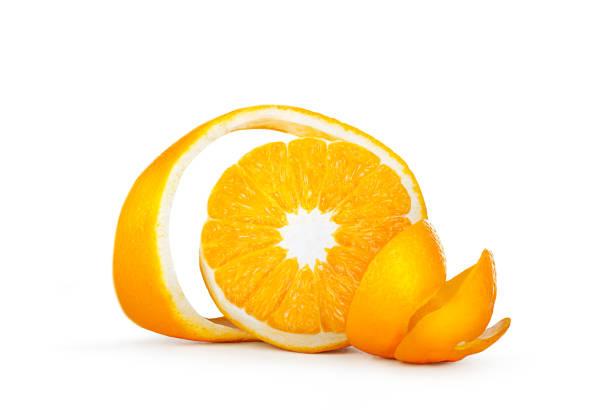 Orange avec zeste frisé coupé - Photo