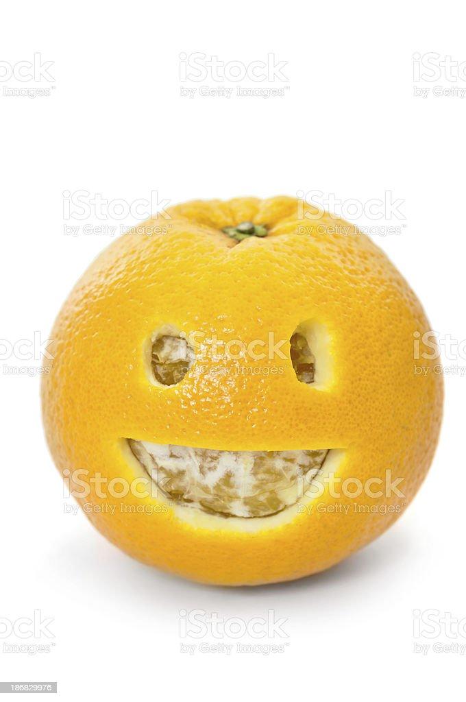 Orange with Happy Face royalty-free stock photo