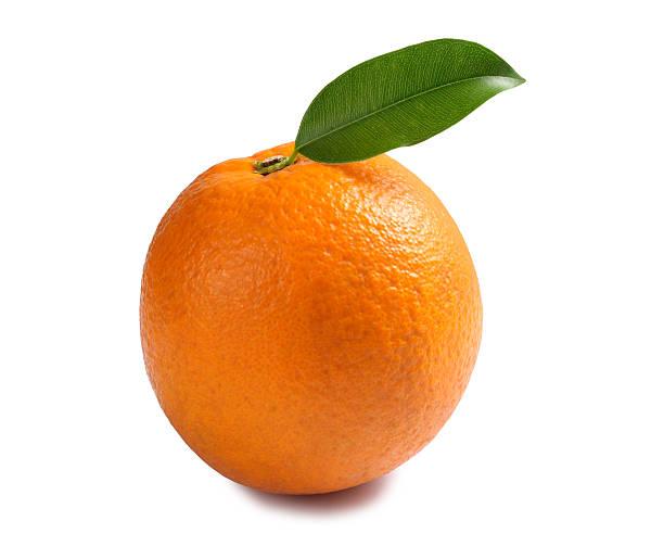 orange with leaf - orange fruit stock photos and pictures