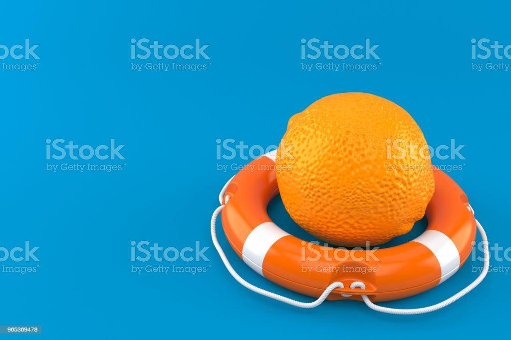 橙色與救生浮標 - 免版稅保護圖庫照片