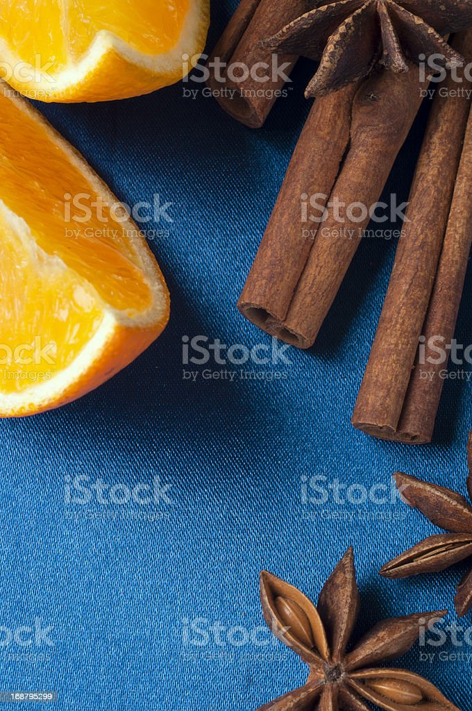 Orange with spices royalty-free stock photo