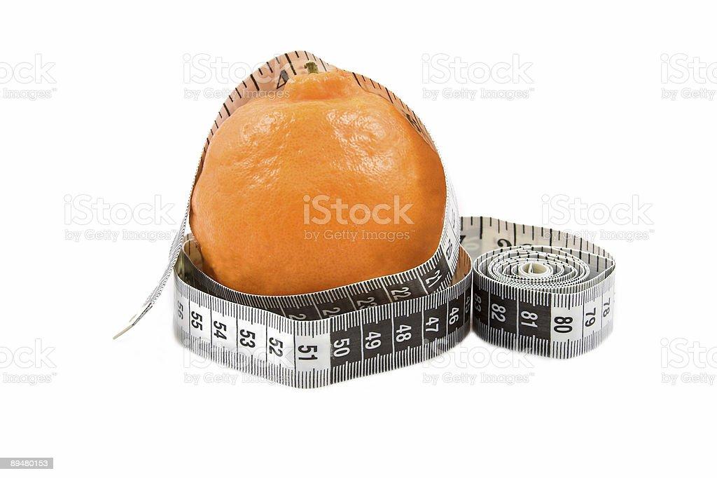 Orange with tape stock photo
