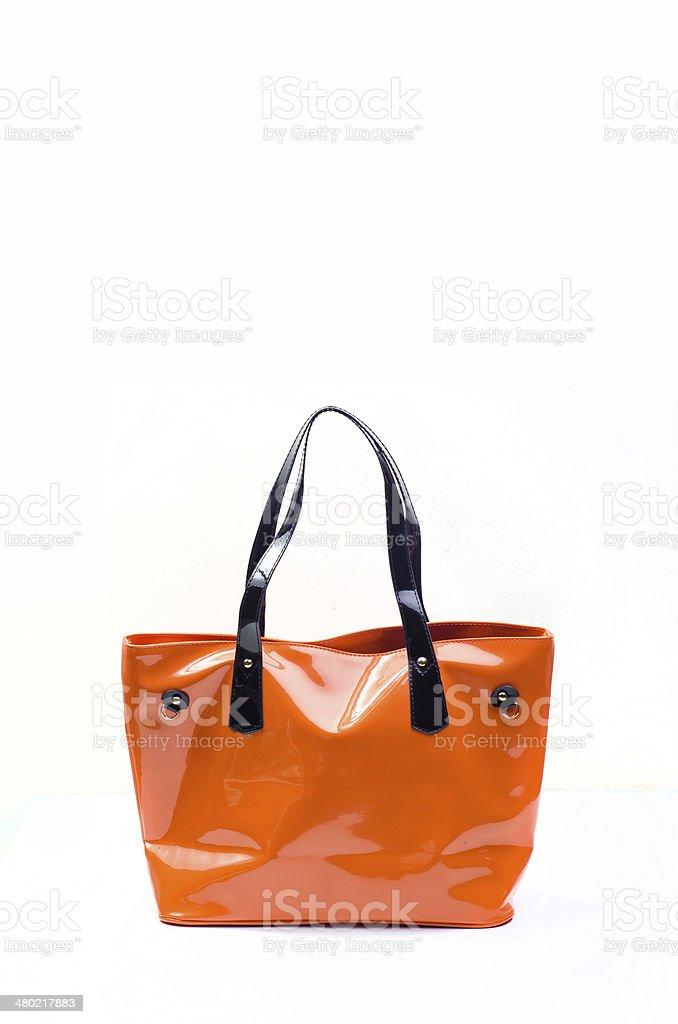 Orange women bag royalty-free stock photo