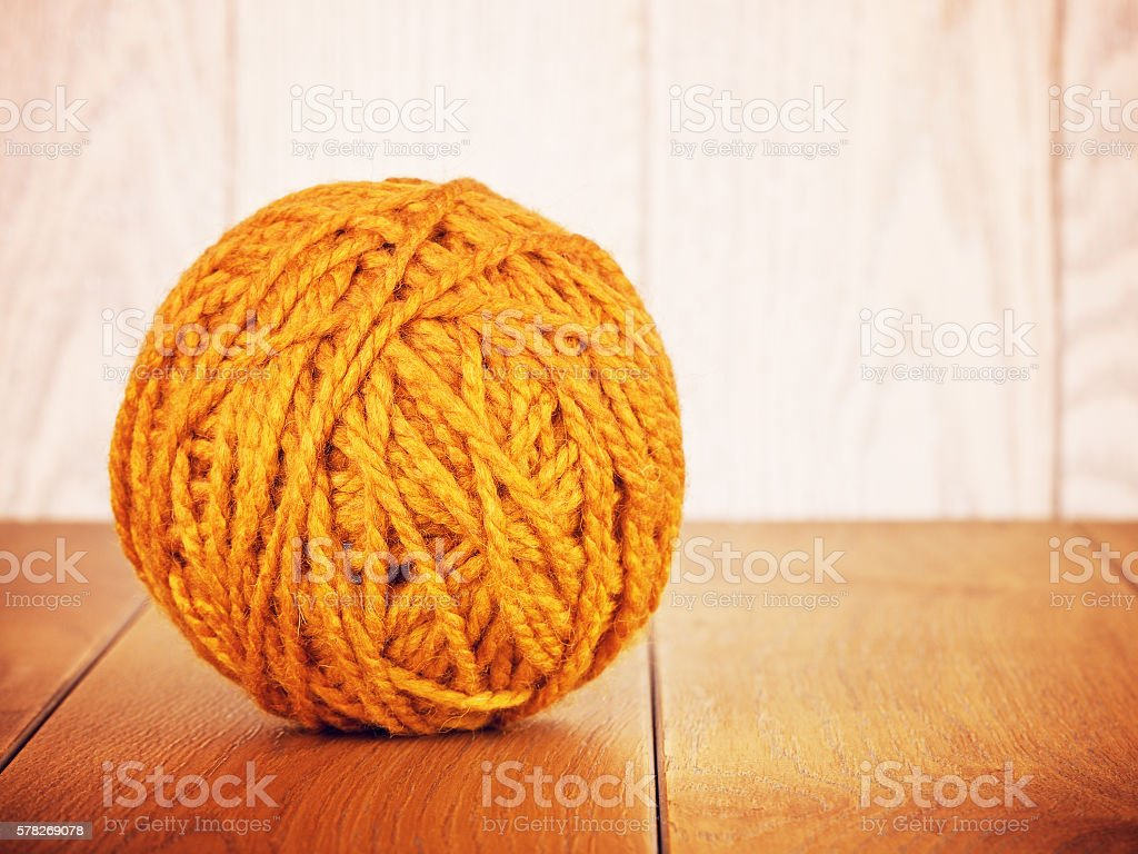Orange Yarn Ball stock photo