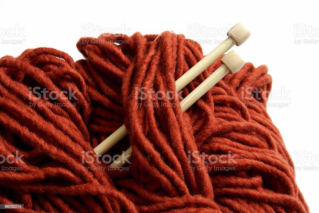 orange yarn detail royalty-free stock photo
