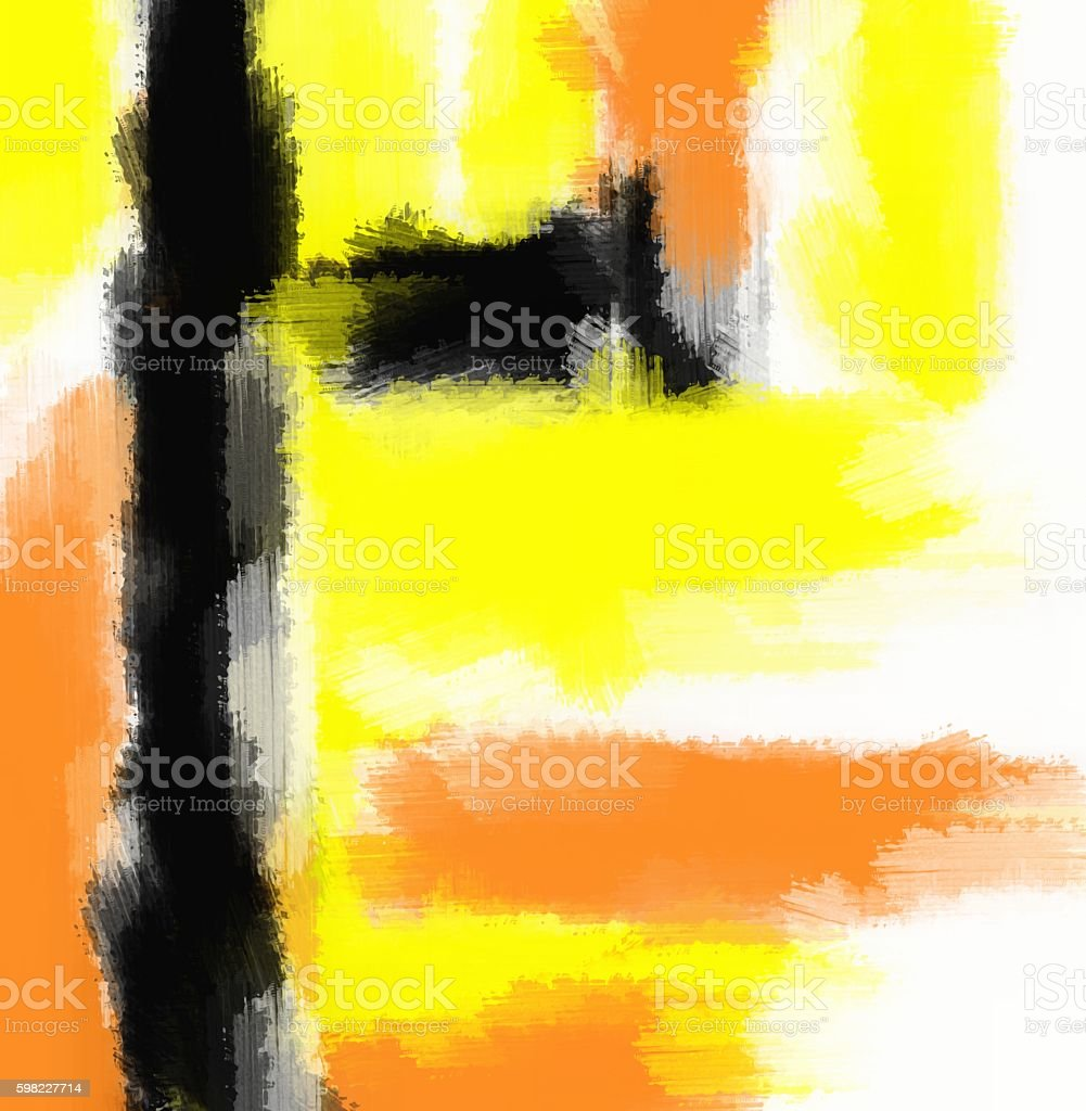 orange yellow and black painting abstract foto royalty-free