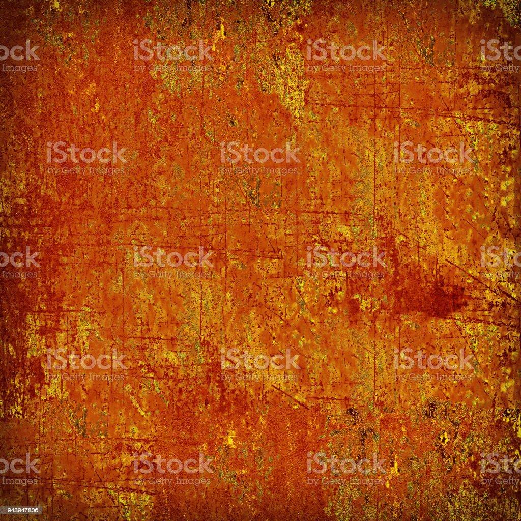 Orange yellow grunge background stock photo