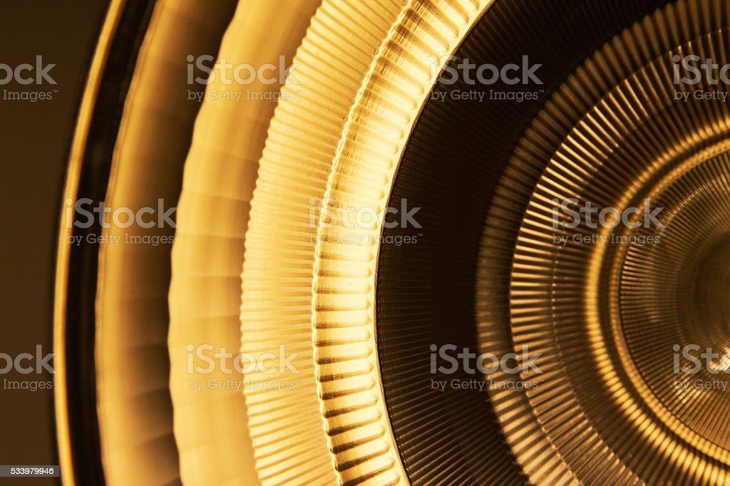 Orange yellow light reflector in medical environment stock photo