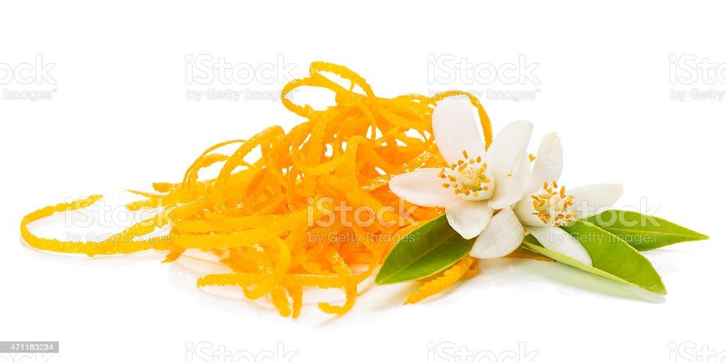 Orange zest and blossom stock photo