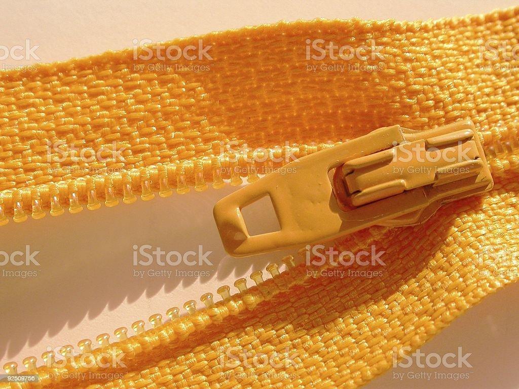 Orange Zipper royalty-free stock photo
