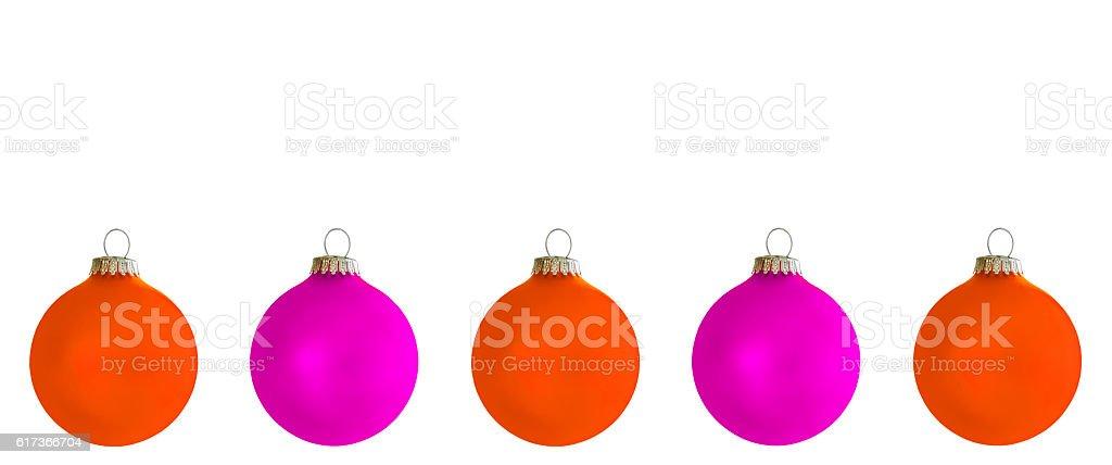 Christbaumkugeln Magenta.Orangene Und Violette Christbaumkugeln Stock Photo Download Image