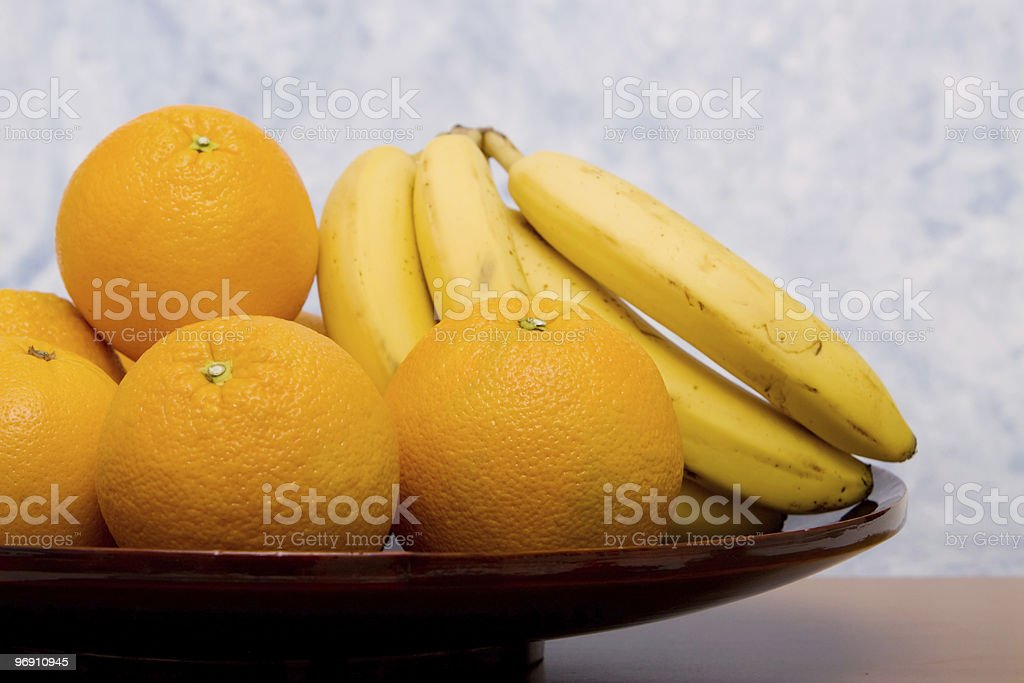 Oranges and bananas royalty-free stock photo
