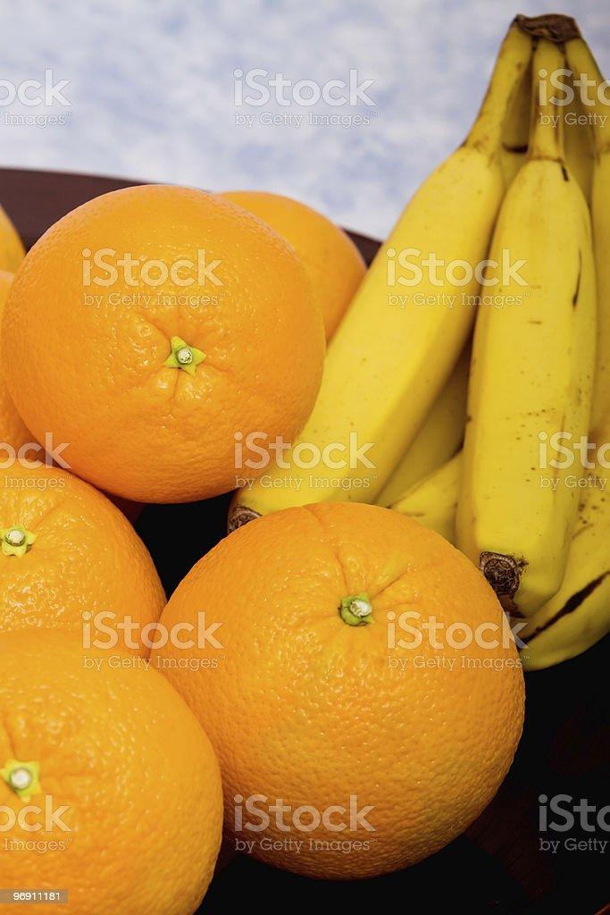 Oranges and bananas royalty-free stock photo