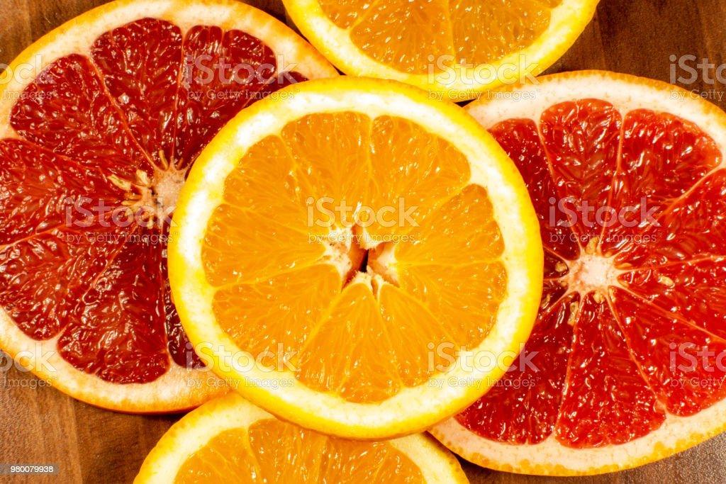 Orangen und Grapefruits – Foto
