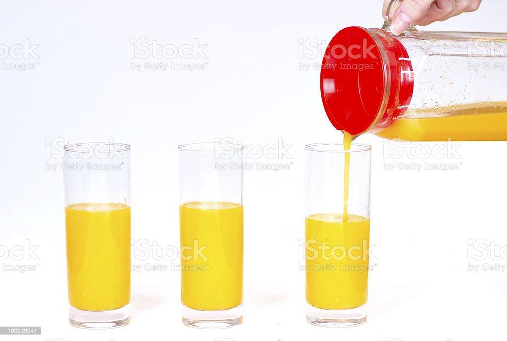 Oranges and juice royalty-free stock photo
