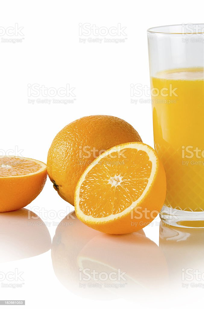 Oranges and juice royalty-free stock photo