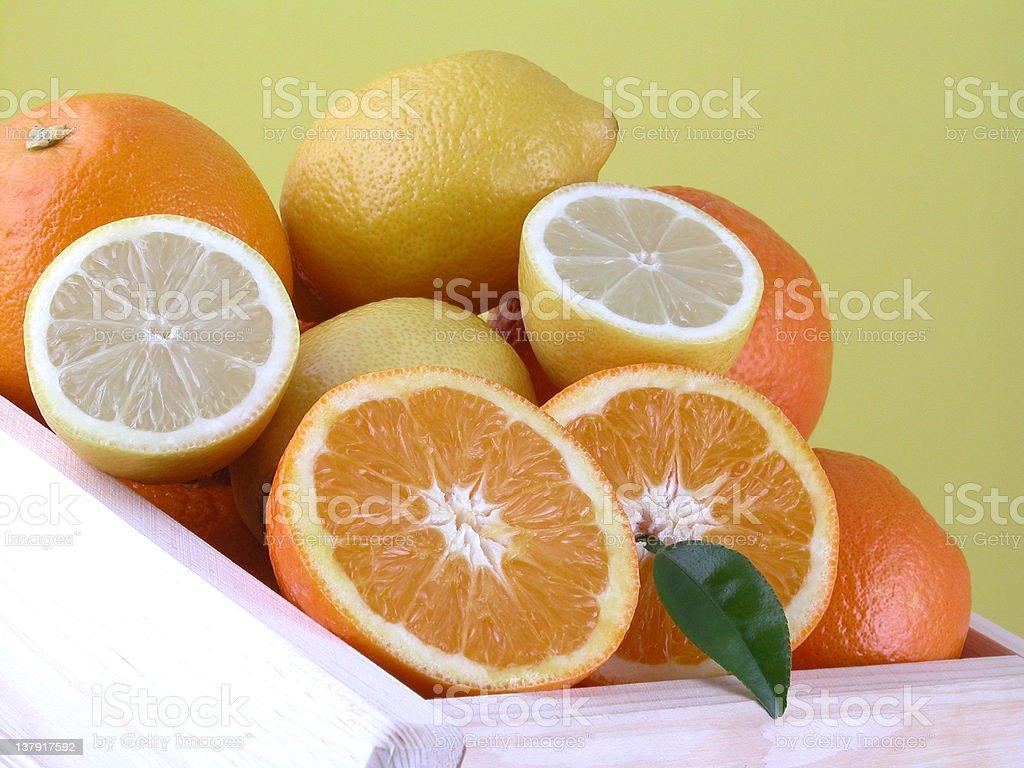 oranges and lemons royalty-free stock photo
