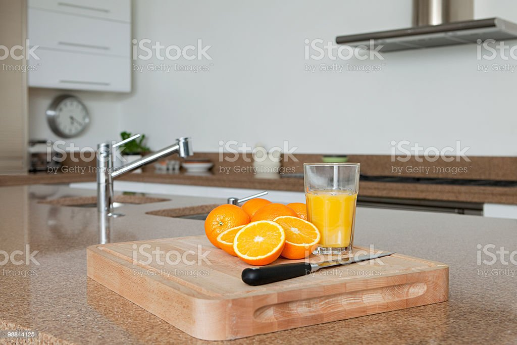 Oranges and orange juice royalty free stockfoto
