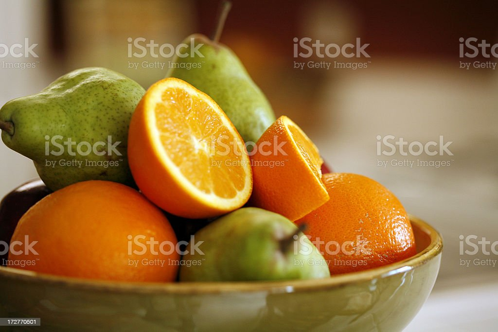 oranges and pears stock photo