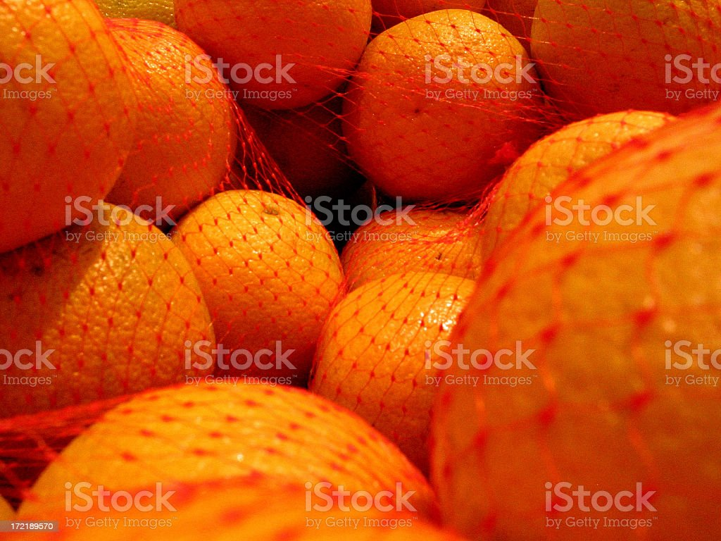 Oranges at Grocery Store - Close royalty-free stock photo