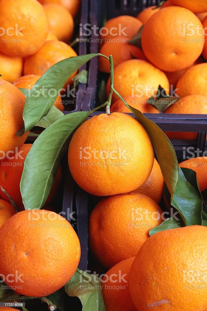 Oranges at the market royalty-free stock photo