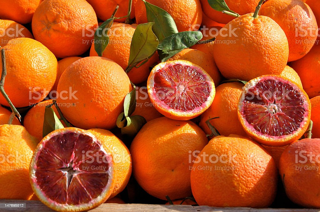 Oranges at the Sicilian market royalty-free stock photo