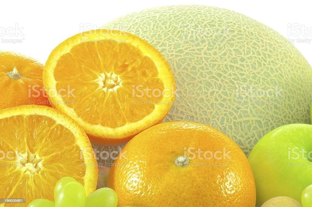 Oranges cut and Group fruit royalty-free stock photo