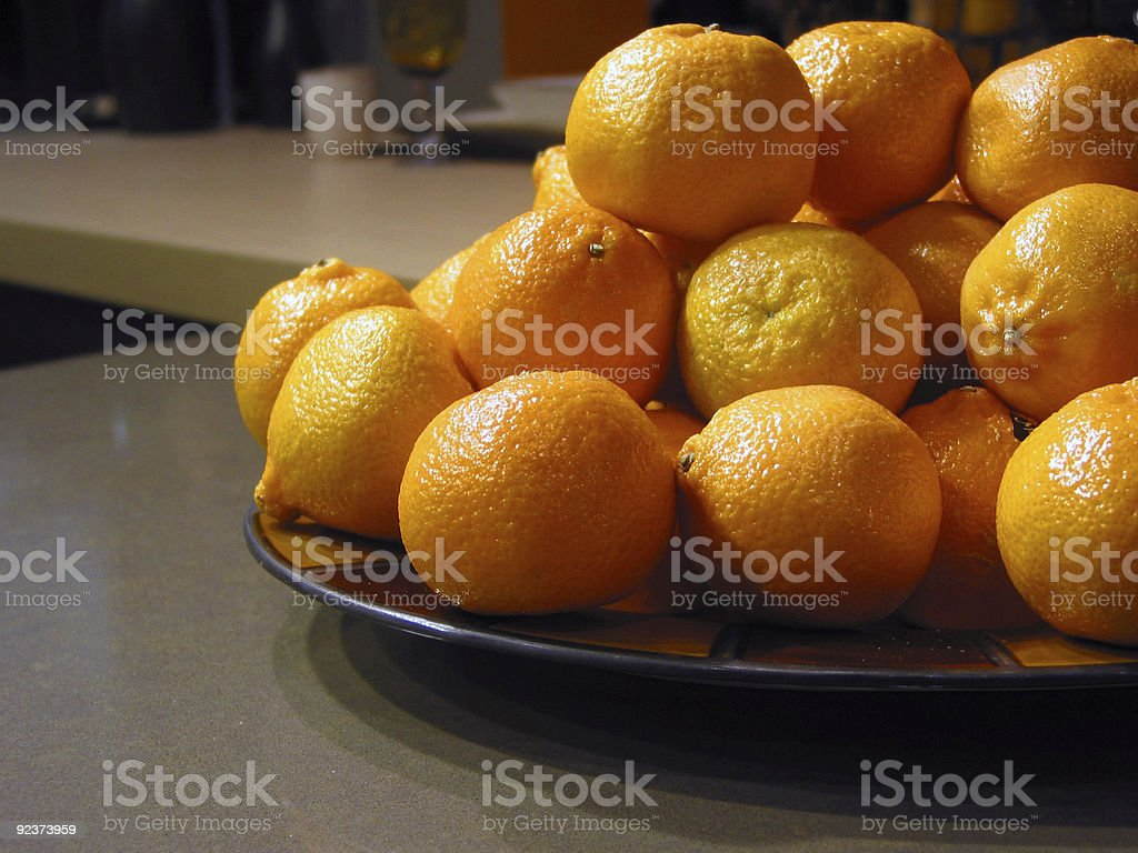 Oranges in a bowl royalty-free stock photo