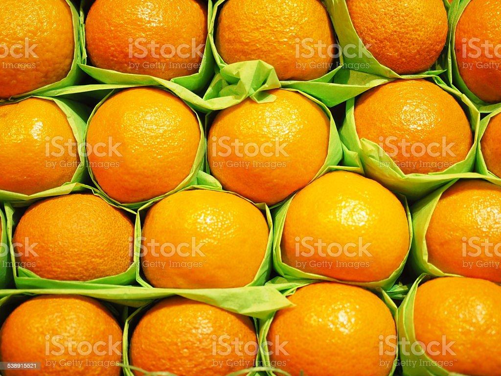 Oranges en papier photo libre de droits