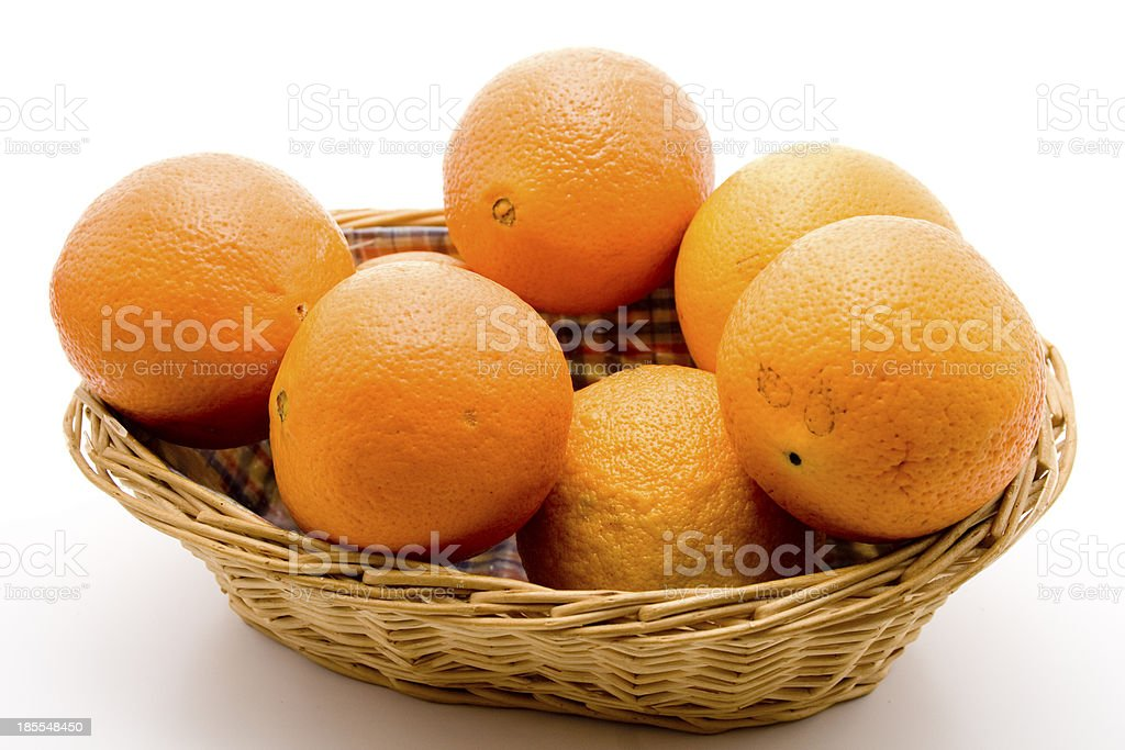 Oranges in the basket royalty-free stock photo