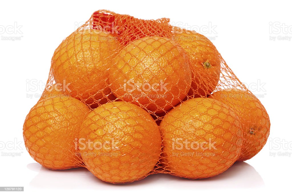 Oranges in the grid stock photo