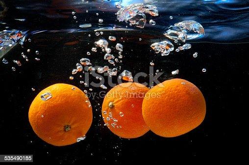 1169153675 istock photo oranges in water 535490185