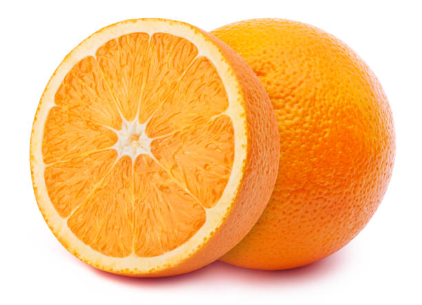 Oranges isolated on white stock photo